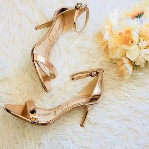 Sam Edelman Patti Rose Gold Metallic Heels Sandals